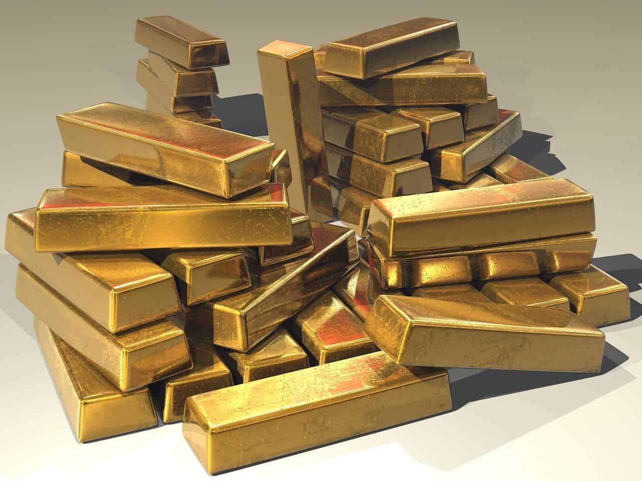 gold, ingots, treasure