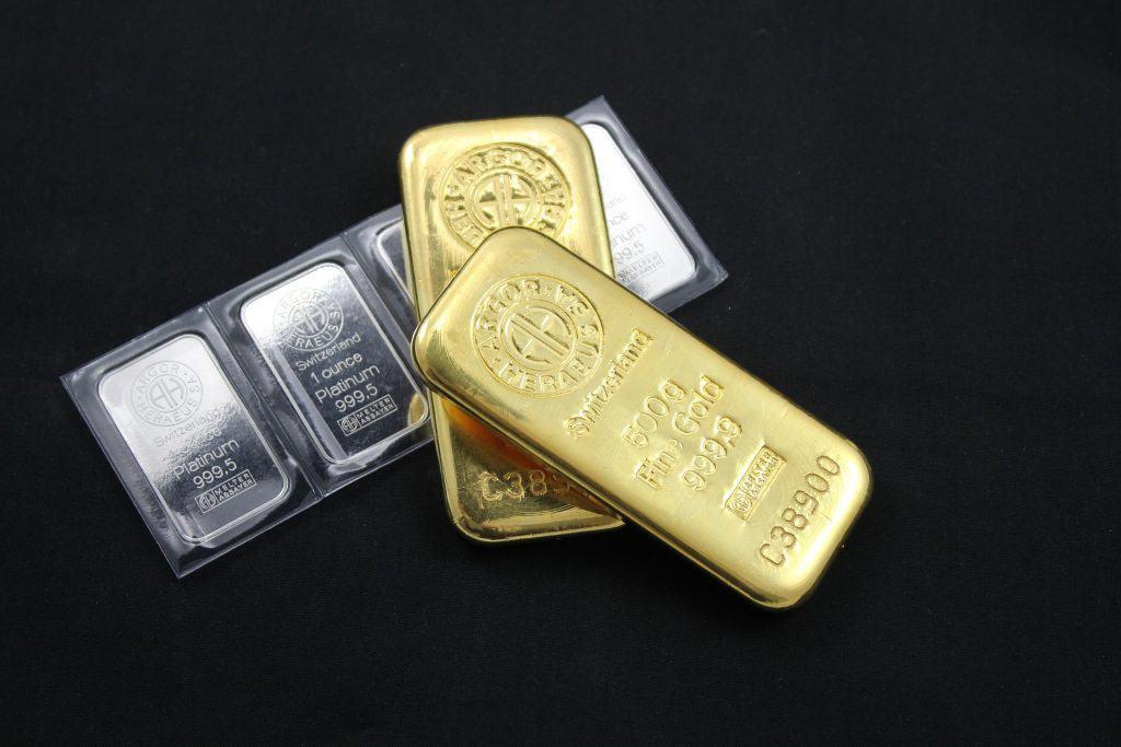 Pile of Swiss Precious Metal Bars